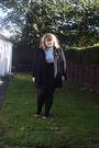 Black-love-label-coat-h-m-skirt-black-h-m-tights-blue-george-shirt-pink-