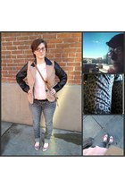 heather gray leopard jeans Target jeans - tan Forever 21 blazer