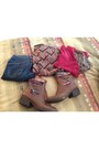 Red-new-york-co-cardigan-brown-target-boots-navy-levis-jeans