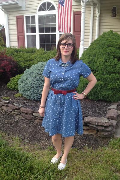 blue Target dress - sky blue spike the punch necklace