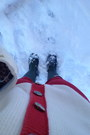 White-thrifted-sweater-green-hunter-boots-ivory-oscar-de-la-renta-bag