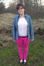 Hot-pink-forever-21-jeans-brown-leopard-belt-betsey-johnson-belt