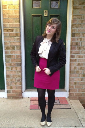 black Kate Young for Target blazer - black Betsey Johnson tights