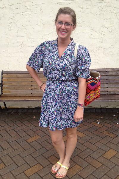 hot pink Target bag - violet Trashy Vintage dress