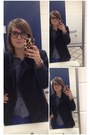 Navy-thrifted-blazer-blue-gap-pants-navy-thrifted-blouse