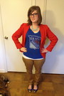 Sky-blue-spike-the-punch-necklace-tan-old-navy-jeans-red-thrifted-blazer
