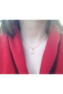 Gold-baublebar-necklace-ruby-red-champs-sweater-tan-thrifted-vintage-skirt