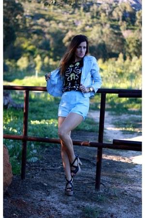 vintage jacket - vintage shorts