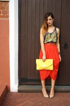 Temt skirt - Sportsgirl bag - vintage top