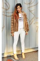 Zara jeans - vintage jacket - vintage necklace