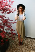 brown Jeffrey Campbell shoes - olive green Cheap Monday dress - black Nasty Gal