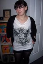 grandmothers vintage jacket - Valley Girl t-shirt - unsure shorts - Target Austr