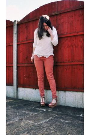 Matalan top - Dorothy Perkins jeans - Matalan wedges