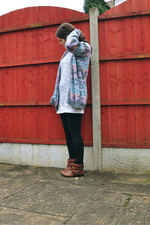 Miss Selfridge cardigan - new look boots - Dorothy Perkins dress
