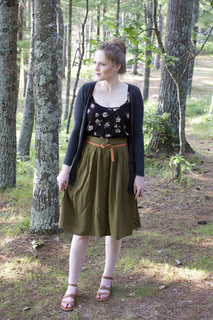 Forever 21 top - Forever 21 skirt - H&M cardigan - Lucky Brand sandals