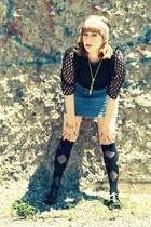 black Topshop blouse - black pleather zipper Sigerson Morrison heels - white Cla
