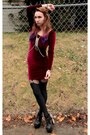 Crimson-velvet-american-apparel-dress-black-black-milk-clothing-leggings
