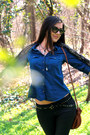 Faux-leather-h-m-boots-navy-denim-h-m-shirt-colorful-mango-scarf