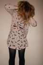 Bird-print-h-m-dress-polka-dot-primark-cardigan-moschino-belt