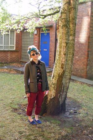 Topshop jacket - Primark shirt - rayban sunglasses - navy blue TOMS pumps