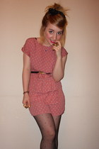 River Island dress - Primark tights - gem hair bow market stall accessories