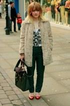 Topshop coat - DIY top - Topshop pants - Topshop flats