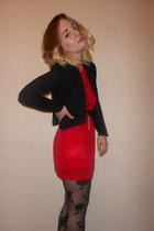 asoscom tights - Shikha dress - Primark blazer - Topshop necklace