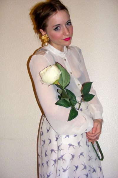 0f203dc6ce20 new look shirt - bird print midi Primark skirt