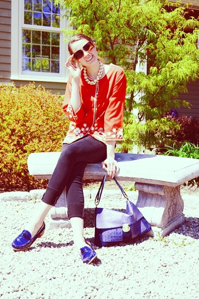 Topshop jeans - SU-SHI bag - christian dior sunglasses - Dolce Vita loafers