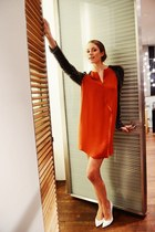 carrot orange 31 Phillip Lim dress - white stuart weitzman heels