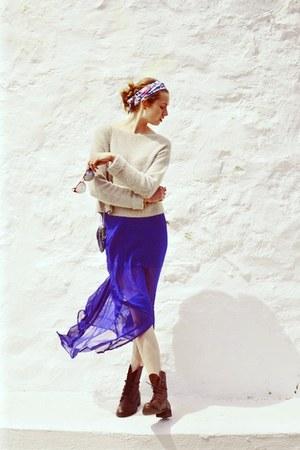 Kanvas skirt - madewell boots - Topshop sweater - ray-ban sunglasses