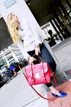 SU-SHI bag - Topshop jeans - Topshop sweater - Elie Tahari blouse