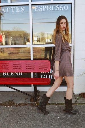 All Saints boots - H&M dress