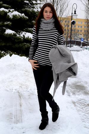 Zara blouse - H&M coat