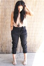 Forever21 pants - AmericanApparel blouse - Forever21 heels