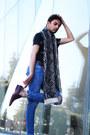 Zara-jeans-zara-scarf