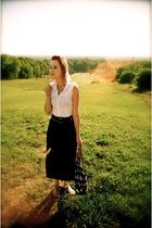 Forever21 blouse - vintage skirt - Dooney&Bourke purse - Gap shoes