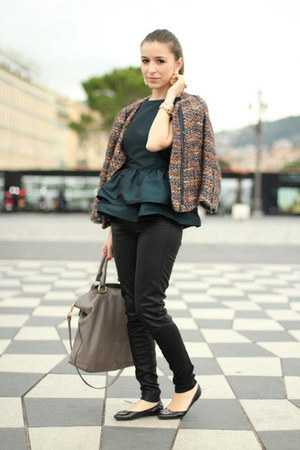 Zara blazer - Prada bag - asos top - Hugo Boss flats - Only pants