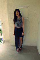 Nasty GIrl skirt - Forever 21 top - leather Steve Madden sandals
