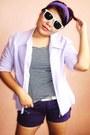 Amethyst-vintage-blazer-deep-purple-sm-shorts-deep-purple-sm-socks-white-m
