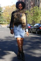 Zara jacket - mm6 dress - Marni boots - scarf