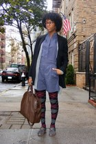 mint jodi arnold - firma blazer - H&M sweater - Burberry purse - cordwainer shoe