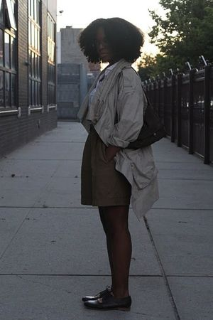 beige Zara jacket - brown MMM shoes - brown DKNY shoes - white Corpus shirt