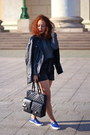 Black-d-g-jacket-heather-gray-old-sweater-black-chanel-bag