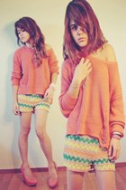 carrot orange knitted Forever 21 sweater