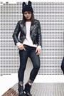 Black-skinny-forever-21-jeans-black-beanie-forever-21-hat