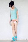 Aquamarine-mint-urban-outfitters-sunglasses-bronze-hot-pants-shop-akira-shorts