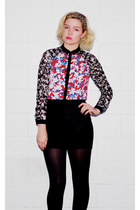blue Target blouse - black H&M skirt