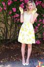Light-yellow-silk-kate-spade-skirt-light-yellow-chiffon-vintage-blouse