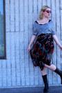 Black-karen-kane-skirt-black-vintage-boots-silver-forever-21-top